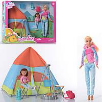 Игровой набор туриста Кукла мама и дочка DEFA 8474 с палаткой и аксессуарами