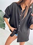 Жіноча лляна сорочка з довгим рукавом, фото 2