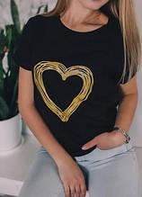 Жіноча футболка, трикотаж, р-р С-М (чорний)