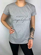 Жіноча футболка, трикотаж, р-р М (сірий)