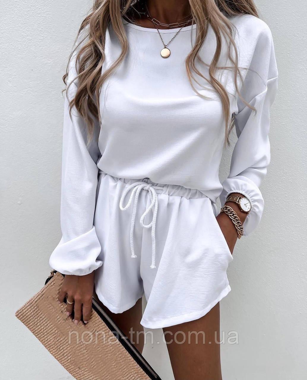 Костюм женский летний с шортами и кофтой