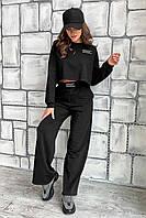 ✔️ Качественный спортивный костюм с укороченным топом брюки клеш 42-48 размеры разные расцветки
