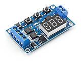 Модуль - реле часу 6-999с програмований, харчування 5-36VDC, фото 3
