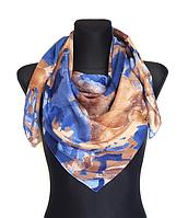 Легкий платок Eripek Надия 95*95 см синий/латте