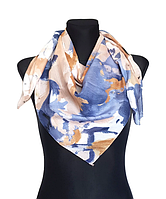 Легкий платок Eripek Надия 95*95 см голубой/пудровый