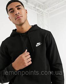 Мужская толстовка с капюшоном, худи, кенгурушка Nike (Найк) Черный