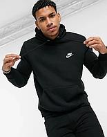 Мужская спортивная толстовка, худи, кенгурушка Nike (Найк) Черный