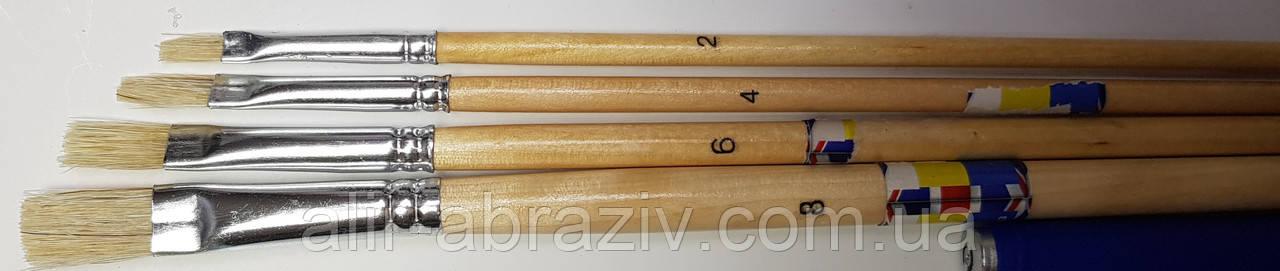Пензлики для фарбування, дерев'яна ручка від 4 до 10 мм