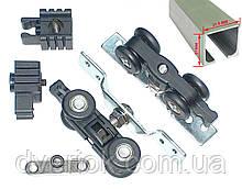Раздвижная система для межкомнатных дверей USK 3026 карбон (80кг) аналог EKF с 2 м профилем