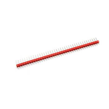 Коннектор 40 pin для макетирования Arduino прямой 2.54 (5 шт. Красный)
