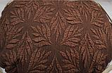 Натяжные универсальные готовые чехлы накидки на трехместные диваны  Коричневый жаккардовый Турция, фото 9