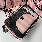 Набір Косметичок 3 в 1 Victoria's Secret Signature Stripe Backstage Nested Trio, фото 5