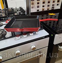 Чавунний американський квадратний гриль Fabiano G 3030 BLACK-RED