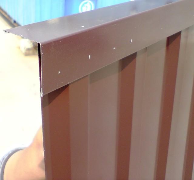 Угловая планка 40 Х 40 мм, цветная, комплектующие для профнастила,