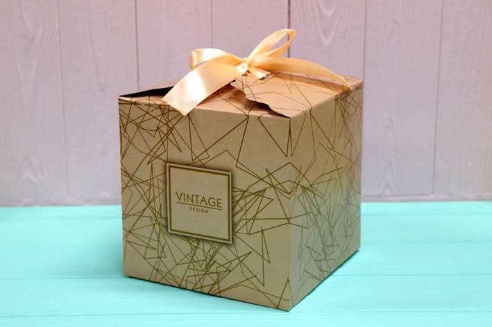 Подарочная коробка Упаковкин 16*16*16см №КР 16-5, фото 2