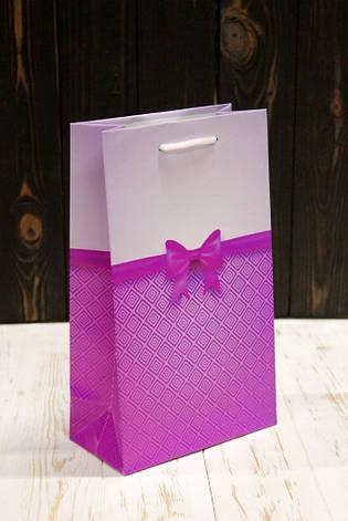Подарунковий паперовий пакет Упаковкин 26*15,5*8см 12шт/уп №ПАК СР-1020КРТ, фото 2