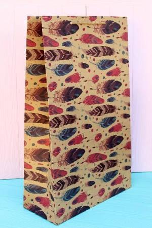 Бумажный подарочный крафт пакет Упаковкин 55*34*14,5см 12шт/уп №ПАК ГВ-116К, фото 2