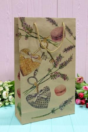 Бумажный подарочный крафт пакет Упаковкин 40*24*9см 12шт/уп №ПАК БВ-1002К