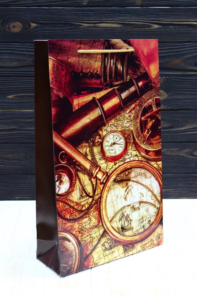 Бумажный подарочный пакет Упаковкин 40*24*9см 12шт/уп №ПАК БВ-115КРТ