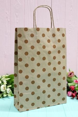 Бумажный подарочный крафт пакет Упаковкин 24*37*10см 10шт/уп №ПАК-1010БР