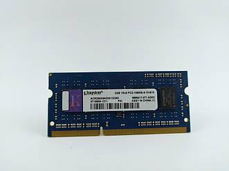 Оперативная память для ноутбука SODIMM Kingston DDR3 2Gb 1333MHz PC3-10600S (ACR256X64D3S13C9G) Б/У