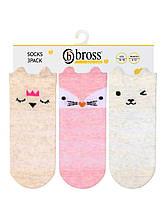 Шкарпетки літні для новонароджених з 3D малюнком TM Bross р. 0-6 міс. (13-15 см)