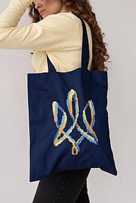"""Еко сумка """"Тризуб"""" синя"""