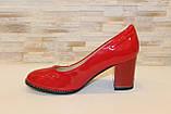 Туфли женские красные на каблуке Т1317, фото 2