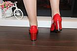 Туфли женские красные на каблуке Т1317, фото 3