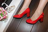 Туфли женские красные на каблуке Т1317, фото 4