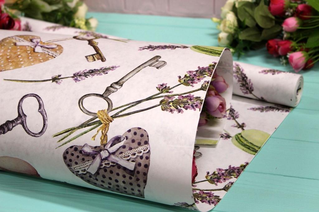 Двостороння крафт папір для квітів і подарунків Упаковкин 70см*10м №1015БЛ 2-СТ