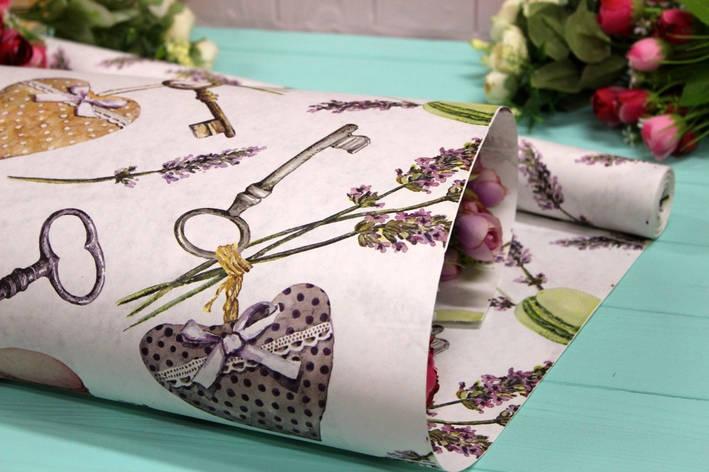 Двостороння крафт папір для квітів і подарунків Упаковкин 70см*10м №1015БЛ 2-СТ, фото 2