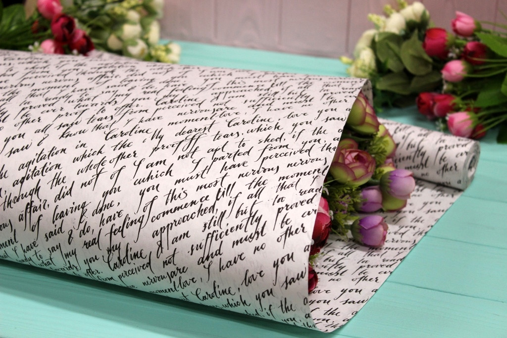 Двухсторонняя крафт бумага для цветов и подарков Упаковкин 70см*10м №1013БЛ 2-СТ