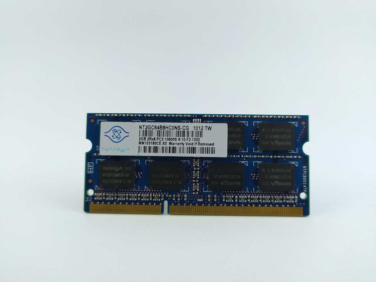 Оперативная память для ноутбука SODIMM Nanya DDR3 2Gb 1333MHz PC3-10600S (NT2GC64B8HC0NS-CG) Б/У