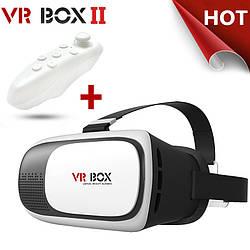 3D Очки Виртуальной Реальности VR Box 2.0 + ПУЛЬТ Шлем ВР БОКС обзор 95-100 градусов для Android и iOSNEW!
