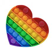Игрушка антистрес Поп ит Сердце,  сенсорная игрушка Радужный Рop it fidget, поп-ит, popit - Вечная пупырка