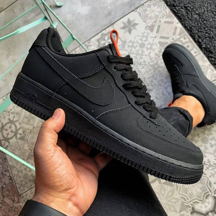 Nike Air Force 07 Anthracite Black Red, фото 2