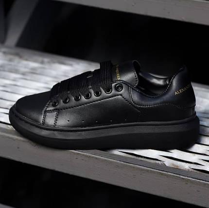 Женские кроссовки Alexander McQueen Triple Black, фото 2