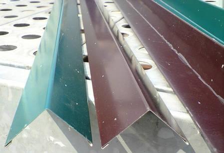 Угловая планка 100Х 100 мм, цветная, комплектующие для профнастила, кровли, фото 2
