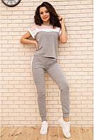 Актуальный трикотажный женский спортивный костюм с футболкой и штанами женский спортивный костюм из трикотажа