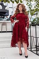 Роскошное ассиметричное нарядное вечернее платье из креп-дайвинга р: 48-50, 52-54, 56-58, 60-62 арт. 668