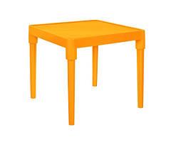 Стіл дитячий 51*51см, h-47 см (світло-помаранчевий)