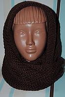 Снуд хомут шарф- трансформер женский вязаный