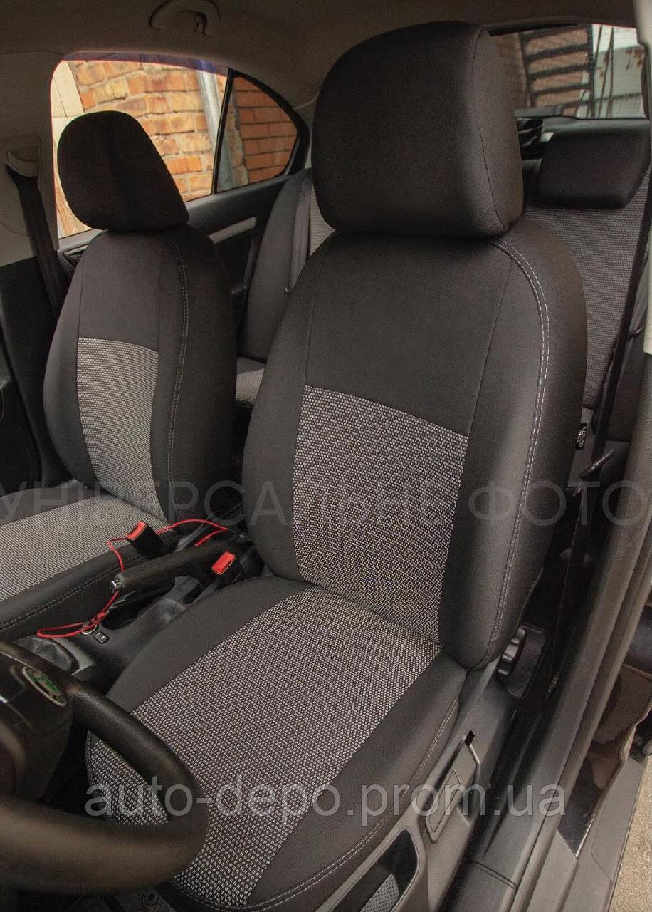 Авточохли для Kia Carens з 2006-2012 р. в. (7 місць) Чохли на сидіння Кіа Каренс з 2006-2012 р. в. EMC Elegant