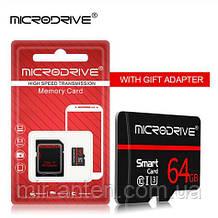 Micro sd Microdrive клас 10 реальні 64 ГБ з адаптером нова