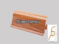 Плинтус 'Plint' AM60 - 11 с кабель-каналом глянцевый ольха
