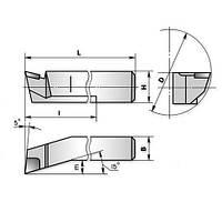 Різець розточний для глух. отв. 10х10х100 ВК8 (ЧІЗ) ІР-504