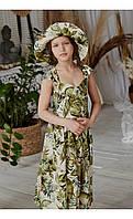 "Сарафан ""белинда"" пальмы размер 116 Mililook Размер 140"