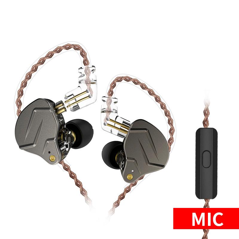 Наушники KZ ZSN Pro с микрофоном gray