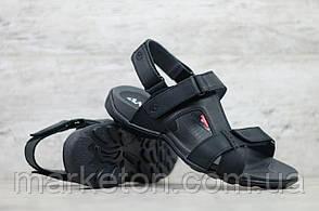 Чоловічі шкіряні сандалії Чорні Antec